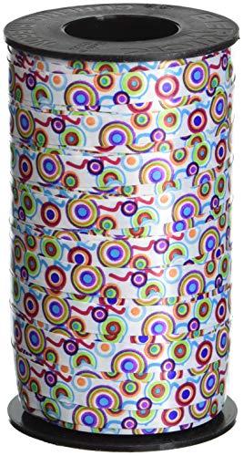 (Berwick 3801299 Printed Curling Retro Spots Ribbon)