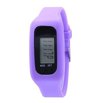 Black Temptation Podómetro para el Paso de pie Contador Relojes Deportivos Fitness Trackers Band Purple: Amazon.es: Deportes y aire libre