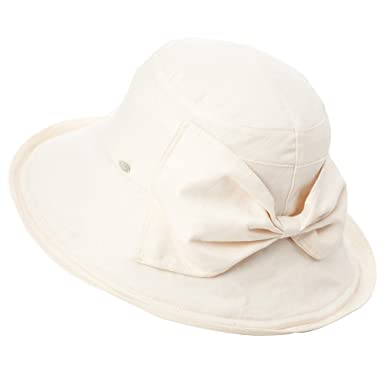 Siggi Womens UPF50+ Summer Sunhat 100%Linen Bucket Packable Crushable  Foldable Wide Brim Hats w 821baa780c10