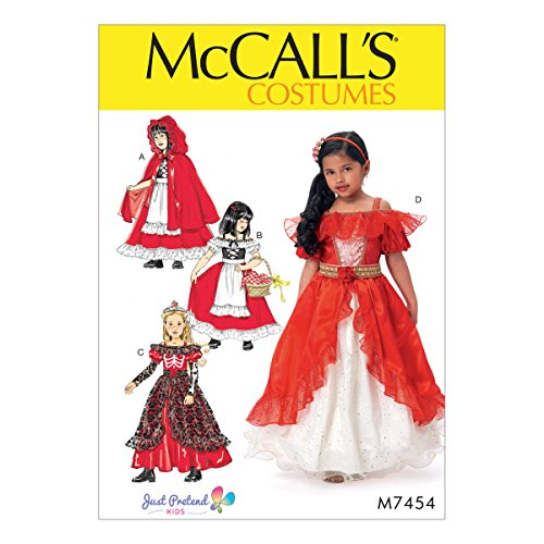 MCCALLS M7454 (Size 3-8) Children's/Girls' Dress-Up Costumes with Attached Petticoat and Cape - Mccall's Costumes