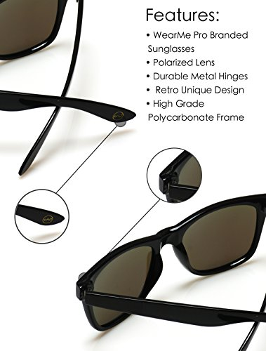 borde gran cuerno Green Verde Revo con estilo soporte de lente color Mirrored sol espejo Polarizadas reflectante de gafas 4xpvOwq
