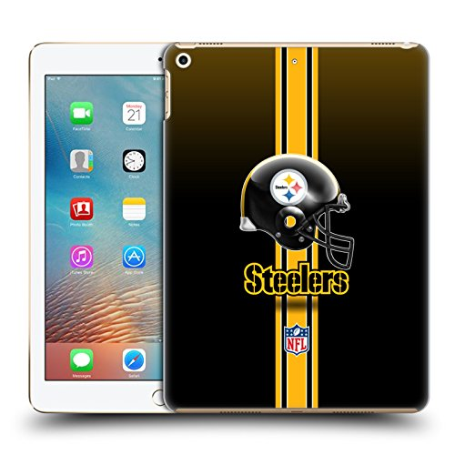 Official NFL Helmet Pittsburgh Steelers Logo Hard Back Case for iPad 9.7 2017 / iPad 9.7 2018 by Head Case Designs
