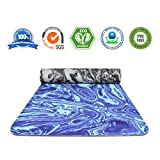 AIMERDAY Non Slip Yoga Mat Eco Friendly TPE Exercise Mat Premium Print 1/4 Inch Thick High Density Lightweight Pilates Mat with Carrying Strap for Floor Workout, Fitness & Hot Yoga 72″ x 24″