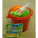 Bana Toys 6 Piece Bucket Set Includes Spade, Rake, Sieve & Sand Moulds