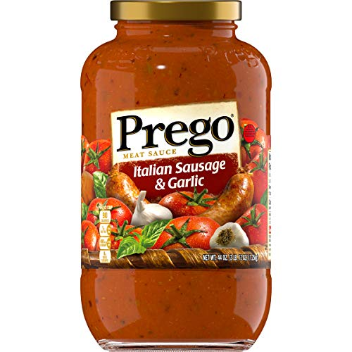 Prego Italian Sausage & Garlic Meat Sauce, 44 Ounce (Pack of 6)