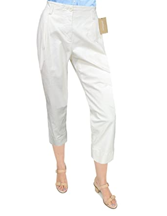 2bebbc1c7c9b DKNY Donna Karan New York Pleat Front Capri Pants, Off White (4) at ...