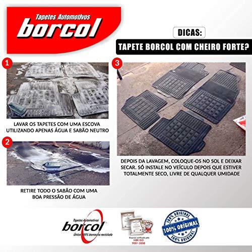 Kit de 4 peças, Tapete Borracha Polo 18/ 01112131, Borcol