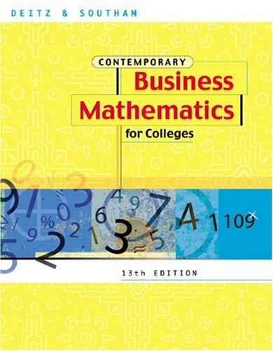 Contemporary Business Math for Colleges