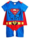 A&J Design Baby Boys' Superman Short Sleeve Romper Costume
