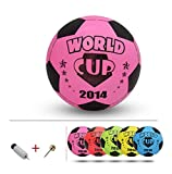 Inflatable Soccer Balls Pool Party Favor Soccer Ball for Kids Pink,8.3''
