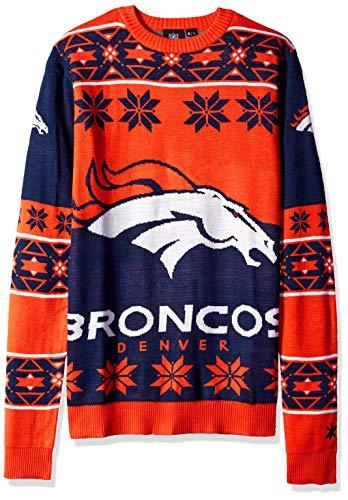 Klew Ugly Sweater Denver Broncos, Medium