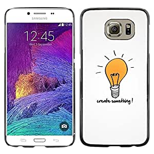 Stuss Case / Funda Carcasa protectora - Creativity Motivational Quote Light Bulb Art - Samsung Galaxy S6 SM-G920