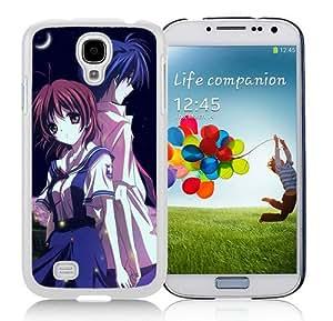 Hot Sale Samsung Galaxy S4 I9500 Case ,Beautiful Unique Designed Case With Clannad Furukawa Nagisa Okazaki Tomoya Girl Moon Night Petals White Samsung Galaxy S4 I9500 Cover