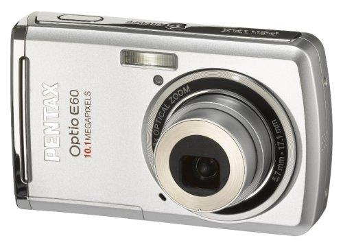 PENTAX デジタルカメラ Optio (オプティオ) E60 シルバー 1010万画素 光学3倍ズーム OPTIOE60S