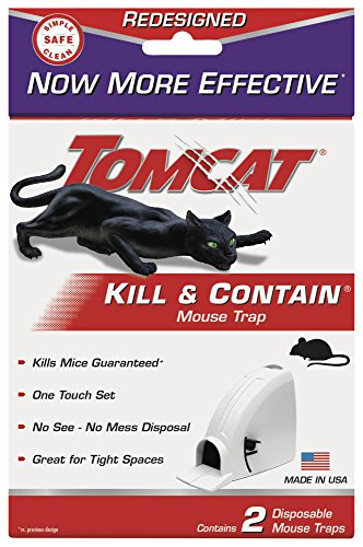 Tomcat Kill and Contain Mouse Trap, 2-Pack (Mouse Traps Ortho)