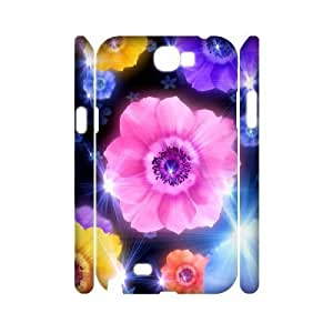 Petals Customized 3D Cover Case for Samsung Galaxy Note 2 N7100,custom phone case ygtg516645
