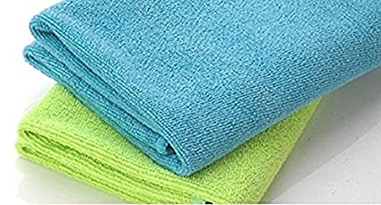 SOBBY Set of 2 Large Microfiber Cleaning Cloths 40 cm x 60 cm Each for Cars, Home, Furniture (Assorted Colors)
