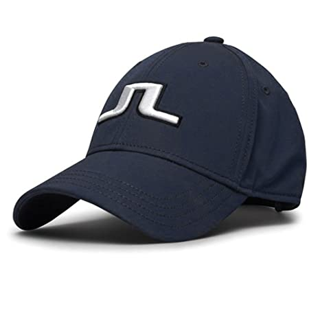 a319502fe20 Image Unavailable. Image not available for. Color  J.LINDEBERG Angus Tech  Stretch OneSize Cap Navy