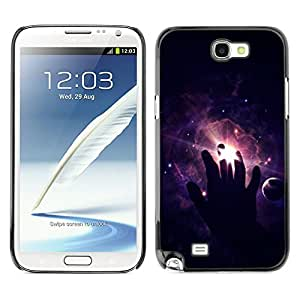 X-ray Impreso colorido protector duro espalda Funda piel de Shell para SAMSUNG Galaxy Note 2 II / N7100 - Cosmos Space Deep Meaningful Black