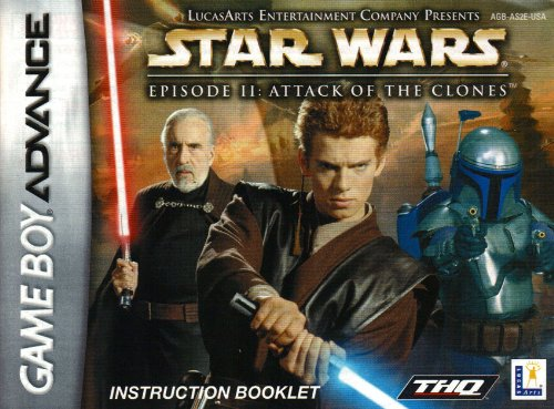 Star Wars Episode II - Attack of the Clones GBA Instruction Booklet (Game Boy Advance Manual Only)