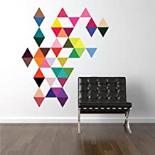 45 Mod Triangle Wall Decals Stickers Repositionable Peel and Stick