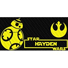 "Star Wars Wall Decal BB-8 Android Vinyl Sticker Decals Nursery Baby Room Wall Decal (20"" x 13.5"", Yellow)"