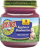 Earth's Best, Apples and Blueberry, 4 oz