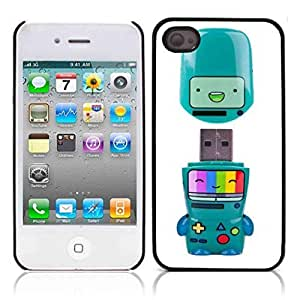 nazi diy Beemo Adventure Time Hard Plastic and Aluminum Back Case for Apple iphone 4 4S