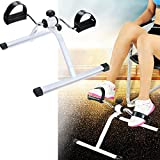 Hurbo Portable Pedal Exerciser Under Desk Exercise Bike Indoor Exercise Machine Bike for Arms, Legs,Fitness Equipment for Seniors and Elderly (White)