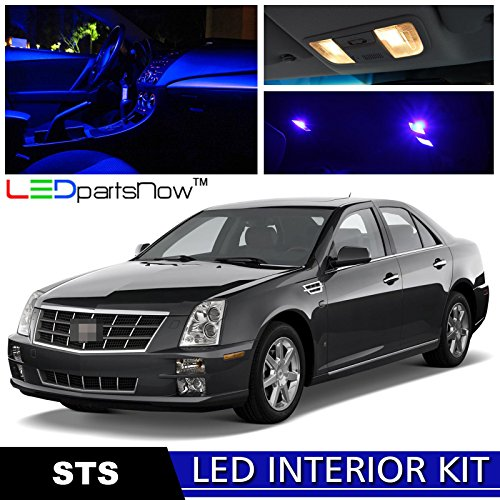 LEDpartsNow 2006-2011 Cadillac STS LED Interior Lights Accessories Replacement Package Kit (16 Pieces), BLUE