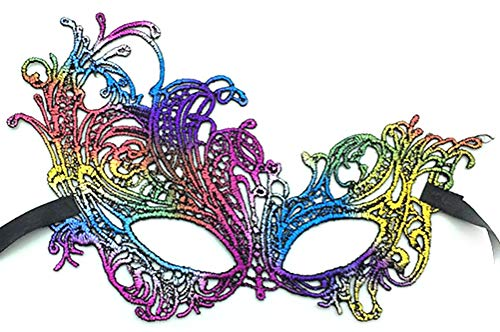 HUPLUE Women Girls Luxury Mask Lace Eye Mask Cosplay Face Mask Masquerade Party Prom Ball Halloween Mardi Gras