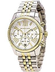 Michael Kors Womens Two Tone Lexington Watch, Silver/Gold, One Size