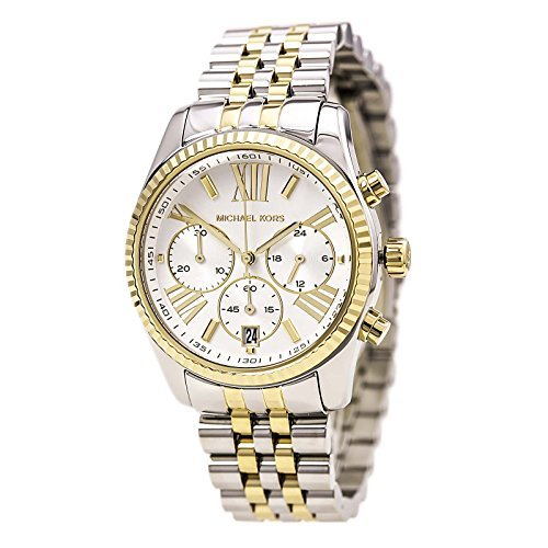 Michael Kors Women's Two Tone Lexington Watch, Silver/Gold, One - Gold Silver Kors And Michael