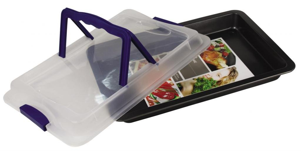 Euro-Home EW533 Gorgeous 17'' x 12'' x 1.5'' Rect. Roasting Pan with Cover, Multicolor