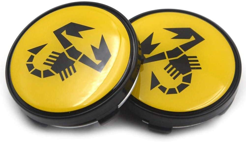 Switch Auto-Logo Logo-Rad-Mitte-Abdeckungs-Abzeichen Drehscheibe Abdeckung 60 Mm Passend F/ür FIAT Abarth Rad Cover500595500 X
