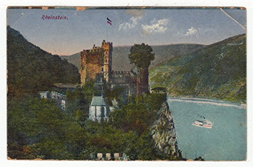 (Rheinstein Castle, Germany - Vintage Original Postcard #2802 - 1920's )
