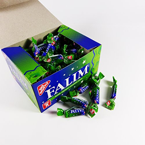 (Falim Sugarless Plain Gum Individually Wrapped, Mint Flavored, 100 Piece)