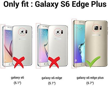 Funda para Samsung Galaxy S6 Edge Plus [Nueva Versión] [Cover 360 Grados], Doble Delantera + Trasera Gel Transparente Silicona Integral Shock ...