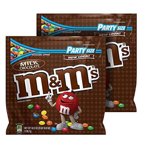 M&M'S Milk Chocolate Candy Party Size 42-Ounce Bag (Pack of -