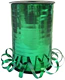 250m Reel of Metallic Emerald Green Florist Curling Ribbon. Gift Wrapping / Balloons / Part Favors
