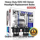 Heavy Duty D2C D2S D2R HID Xenon Headlight Replacement Bulbs 35W High Low