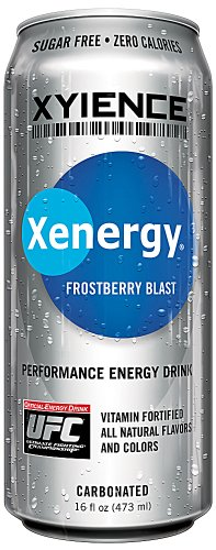 XYIENCE Energy Drink | Frostberry Blast | Sugar Free | Zero Calories | Natural Flavors | Vitamin Fortified | 16 Ounce (Pack of 12) (Beverage Speedy)
