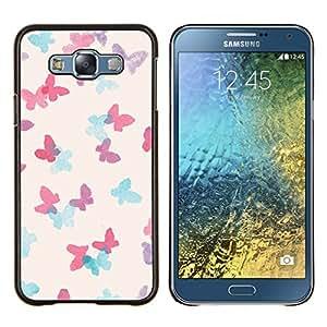 Dragon Case - FOR Samsung Galaxy E7 E7000 - elephant drawing Indian African white - Caja protectora de pl??stico duro de la cubierta Dise?¡Ào Slim Fit