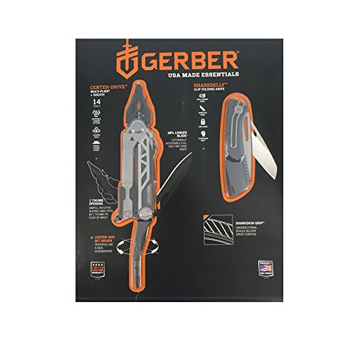 Gerber Center Drive Multi Tool-pliers 14, Sharkbelly Folding Knife, and sheath Usa