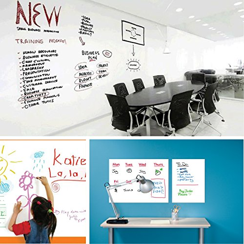 """Prefer Green Self-Adhesive Whiteboard Wall Decal Sticker, 78.7"""" × 17.5"""" Extra Large Strong & Durable Dry Erase Wall Paper Message Board for Kids, Office, School & Home with 1PCS Marker Pen (White) by Prefer Green (Image #5)"""