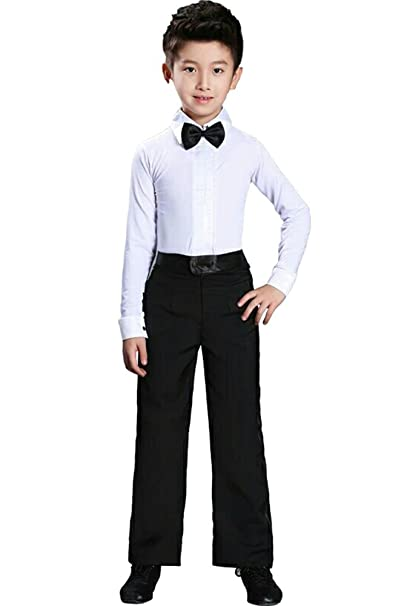 Amazon.com: XFentech Boys Kids Classic Latin Dance ...