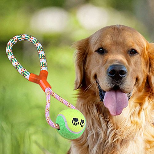well-wreapped Tutuba Dog Rope Toy Durable Chew Knot Rope for