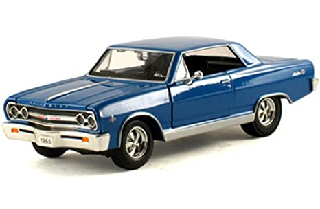 Signature Models 1965 Chevy Malibu, Blue 32432 - 1/32 Scale Diecast Model  Toy Car