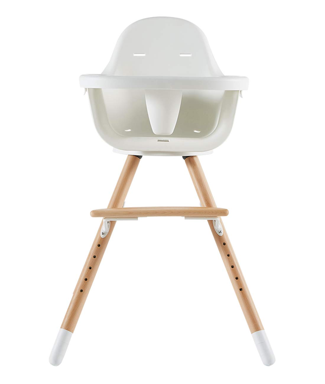Amazon Com Asunflower Wooden High Chair For Baby Swivel Modern Highchair Wood Feeding Solution With Adjustable Tray For Toddler Infant Baby