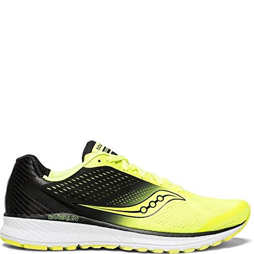 Saucony Men's Breakthru 4 Running Shoe, Citron/Black, 12 Medium US